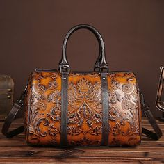 2017 Genuine Leather Women Handbags Fashion Design Elegant Shoulder Bags Floral Print Female Casual Tote Bag bolsos sac a main (32783002373)  SEE MORE  #SuperDeals