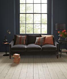 The Iggy three seat sofa in Elephant cotton matt velvet £1,390: http://www.sofa.com/shop/sofas/iggy/customize/size/130/fabric/CMVELE/