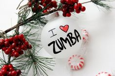 I (heart) Zumba Christmas Ornament - Personalized for Free - $10