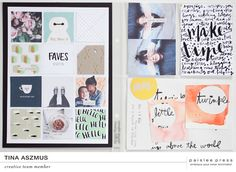6x8 pocket pages \ Let's Go journal cards, Faves 6×8 templates, and In Progress elements, all by paislee press