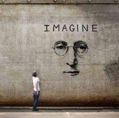 John Lennon Street Art. Creative street art, cool urban art.