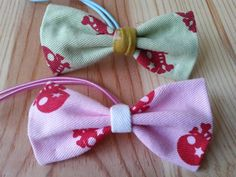 Fabric hair bow tie,ponytail holder 144s