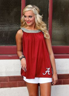 Choose your team here! Roll Tide Football, Alabama Football, Bama Fever, Alabama Crimson Tide, Cute Tops, Cute Outfits, My Style, Alabama Room, Alabama Decor