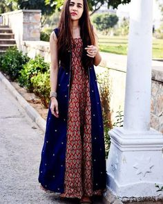 "thing This blue. Is my fav blue …"" Pakistani Dresses, Indian Dresses, Indian Outfits, Ethnic Dress, Indian Ethnic Wear, Kurta Designs, Blouse Designs, Indian Designer Outfits, Designer Dresses"