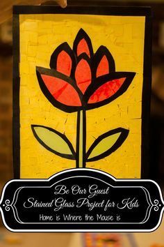 Disney Craft: Be Our Guest Stained Glass Project for Kids | Home is Where the Mouse is