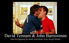 David Tennant and John Barrowman *Screams and faints* (I actually squealed very very loudly when I saw this)