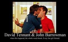 David Tennant and John Barrowman :D