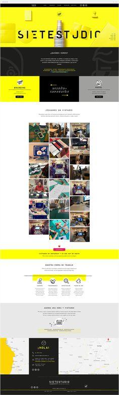 Sietestudio   Graphic Design Studio Branding, Graphic Design Studios, How To Speak Spanish, Layout, Paper Envelopes, Brand Management, Page Layout, Identity Branding