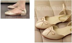 New Girl Cute Shoes Ballet Low Heels Flats Loafer Comfort Bow Ankle Chain Strap   eBay