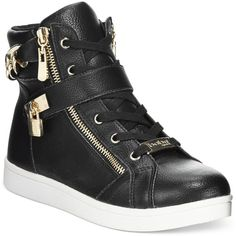 bebe Sport Kandee High-Top Sneakers (195 BRL) ❤ liked on Polyvore featuring shoes, sneakers, black, black high top shoes, glitter shoes, glitter sneakers, bebe shoes and black hi top sneakers
