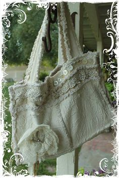 Rag Bag Tutorial- No measurements, but I think I can figure it out.  So beautifully shabby!!