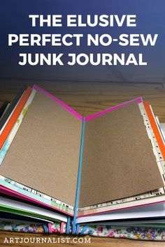 Elusive Perfect No Sew DIY Junk Journal Binding Tutorial This is a super simple no-sew junk journal with reposition-able pages! You'll love it! Make one!This is a super simple no-sew junk journal with reposition-able pages! You'll love it! Make one! Junk Journal, Journal Paper, Sewing Projects For Beginners, Diy Projects To Try, Jar Crafts, Book Crafts, Mini Albums, Handmade Journals, Diy Handmade Books