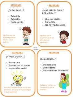 Pre K Activities, Spanish Activities, Speech Therapy Activities, Spanish Teaching Resources, Spanish Lessons, Idioms And Proverbs, Spanish Inspirational Quotes, Reading Strategies, Speech And Language