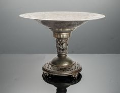 Bronzed tazza compote Oscar B Bach New York by SearchEndsHere on Etsy