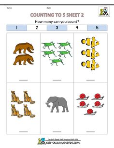 free counting worksheets counting to 5 2