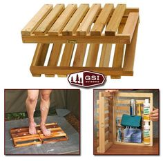 Portable Cedar Floor for Camping Showers - On Sale!:
