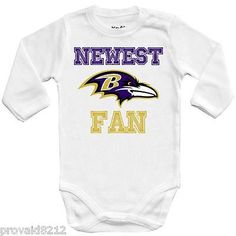 Baby bodysuit Newest fan Baltimore Ravens football One Piece jersey NFL  outfit  83bd7dd96