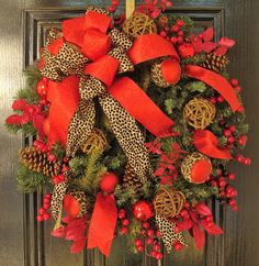 Holiday Wreath with Vintage Charm Touch of by WiltshireWildflowers