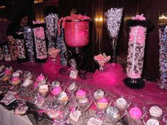 All in white, black, and silver -Candy Buffets Wedding Favors Photos on WeddingWire