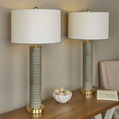 Impressive Deal Moira Modern Table Lamp (Set of By Willa Arlo Interiors Modern House Design, Modern Interior Design, Modern Decor, Living Room End Tables, Standard Lamps, Table Lamp Sets, Luxury Homes Interior, Living Room Lighting, Interior Lighting