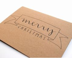 Beautiful handwritten calligraphy Christmas card. @sparrownestscript