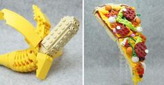 A Japanese artist had fun recreating food in a very realistic way, with the ingredients being only those little pieces of plastic better known as...