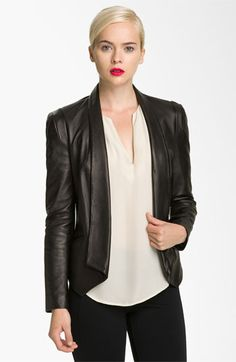 Two must-haves combined: a blazer-biker jacket! Rebecca Minkoff 'Becky' Leather Jacket | Nordstrom