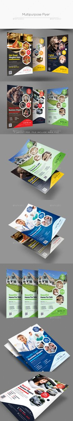 Buy Multipurpose Flyer by on GraphicRiver. Free Flyer Templates, Business Flyer Templates, Print Design, Graphic Design, Photoshop Cs5, Flyer Design, Layout, Fitness Flyer, Cosmetic Design