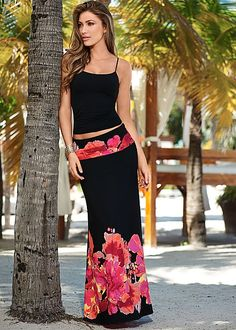 Floral Print Maxi from VENUS women's swimwear and sexy clothing. Order Floral Print Maxi for women from the online catalog or Denim Fashion, Skirt Fashion, Boho Fashion, Fashion Outfits, Womens Fashion, Venus Clothing, Women's Clothing, Womens Maxi Skirts, Women's Skirts