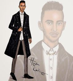 Hayden Williams Fashion Illustrations: Lewis Hamilton by Hayden Williams