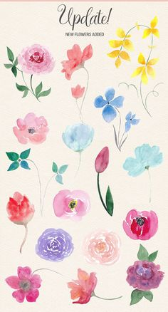 Watercolor Design Kit by Switzergirl on off! Watercolor Design Kit by Switzergirl on Watercolor Design, Watercolor Cards, Floral Watercolor, Simple Watercolor Flowers, Watercolor Trees, Watercolor Landscape, Simple Flower Painting, Watercolor Artists, Watercolor Beginner