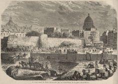 Anciens murs de Paris découverts par les démolitions de la place Saint-Michel - Enceinte de Philippe Auguste — Wikipédia