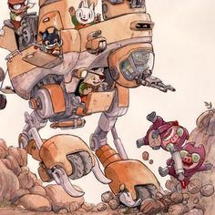 Evan Palmer Comics — Animal Mechs