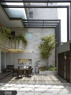 enclosed courtyard