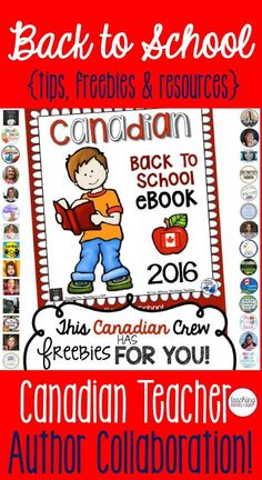 Back to school freebie! Tips, freebies and resources provided by some amazing Canadian teacher authors just for you! Primary, junior, intermediate and senior activities all included. (scheduled via http://www.tailwindapp.com?utm_source=pinterest&utm_medium=twpin&utm_content=post147581375&utm_campaign=scheduler_attribution)