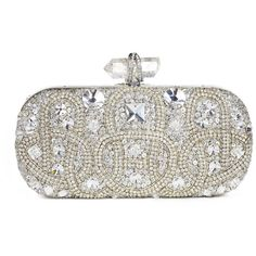Marchesa Lily Medium Crystal Oval Clutch (€3.065) ❤ liked on Polyvore featuring bags, handbags, clutches, purses, bolsas, women, lily handbags, chain handbags, handbag purse and hand bags