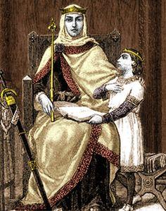 La reine régente Blanche de Castille et son fils, le futur Louis IX dit Saint Louis.