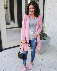08e463714f Just Knitted Open Coat in Pink