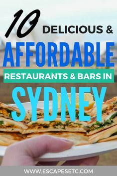 Looking for somewhere to eat and have a drink at in Sydney? Here are 10 delicious affordable Sydney restaurants and bars that you have to visit! #sydney #affordablefoodsydney #budgettravel #backpackingaustralia #sydney #australiaworkingholiday