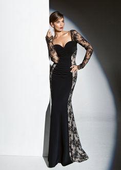 Dress with deep neckline