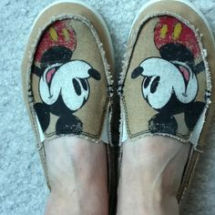 I'm in love with my Disney shoes:)  I have these (they're Crocs!) and they're the most comfortable shoes I own!