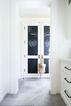 Blackboard lockers, slate floors | Kelly Nutt Design