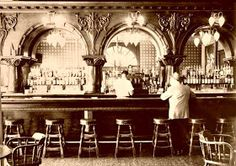 Tammany bar returns A mahogany back bar graces the Tammany Lounge in Anaconda's Montana Hotel in this historical photograph. The hotel was stripped bare and its contents sold in the Current owner Jill Robison tracked down the bar, bought it and plan Western Saloon, Old West Saloon, Western Bar, Wild West Party, Antique Bar, Saloon Girls, Back Bar, Anaconda, Le Far West