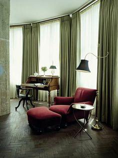 Soho House Berlin Apartments Big detail.I want these herringbone floors
