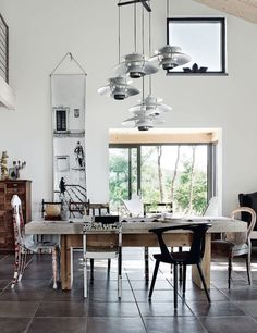 It's been a while since my last dining room mood board. This time, we're exploring some rustic dining room inspiration. Dining Room Sets, Dining Room Design, Dining Chairs, Dining Room Inspiration, Interior Inspiration, Style At Home, Rooms Ideas, Scandinavian Home, Interiores Design