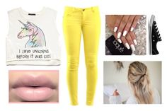 """""""Unicorn is my life"""" by christina-cookie ❤ liked on Polyvore featuring Forever 21, Lulu*s, Converse, women's clothing, women, female, woman, misses and juniors"""
