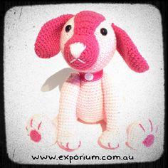 Pepita the amigurumi puppy dog by Exporium on Etsy