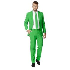 Men's OppoSuits Slim-Fit Solid Novelty Suit, Size: 46 - regular, Green