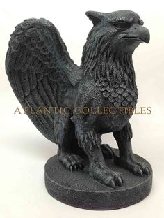 Medieval Decorative Figurine Statue Griffin Gargoyle Sitting Magical Creature