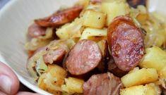 Poêlée pommes de terre et saucisses